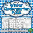 Winter Kindergarten Pack ~ Print & Go ~ CCSS Aligned