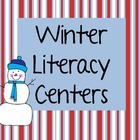 Winter Literacy Centers (bonus letter, am an all, fluency,