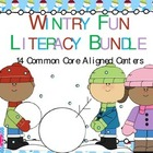 Winter Literacy Kindergarten Common Core Pack 14 Centers