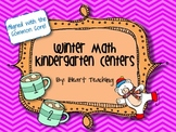 Winter Math Kindergarten Centers Common Core Aligned