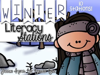 Winter Literacy Stations {10 Stations}