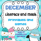 December Literacy and Math Centers-Based on Common Core Standards