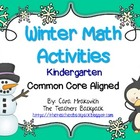 Winter Math Activities Kindergarten Pack
