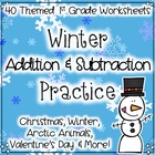 Winter Math: Addition & Subtraction Practice