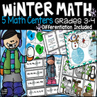 Winter Math Centers Grades 3-4