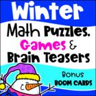 Winter Math Games Puzzles and Brain Teasers