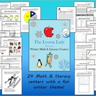 Winter Math & Literacy Worksheets for Centers and Stations