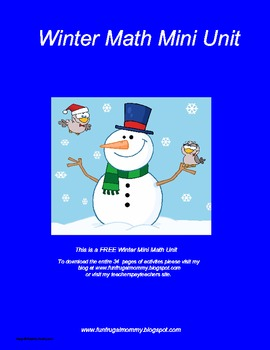 Winter Math Mini Unit