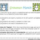 Winter Math: Snowman Match Games