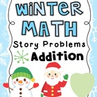 Winter Math Story Problems Addition