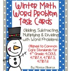 Winter Math Word Problem Task Cards (4th Grade - Common Co