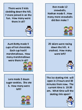 Winter Math Word Problems