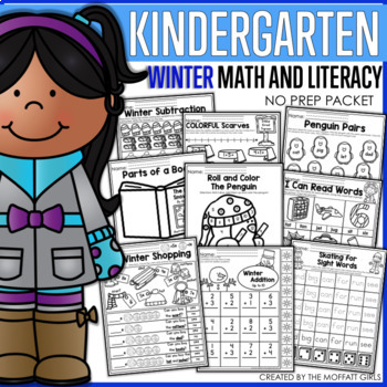 Winter Math and Literacy Packet (Kindergarten)