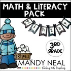 Winter Math and Literacy Pack (3rd Grade)