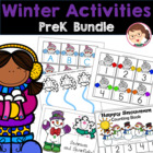 Winter Math and Literacy Preschool Pack