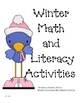 Winter Math and Literacy Station Activities