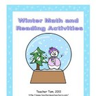 Winter Math and Reading Activities