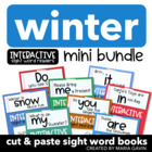 Winter Mini Bundle of Interactive Sight Word Readers