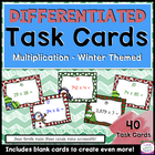 Winter Multiplication Task Cards