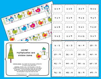 Winter Multiplication/Division Game
