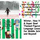 Winter, New Year's & Super Bowl Themed Figurative Language