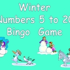 Winter Number Bingo Games- Numbers 5 to 20