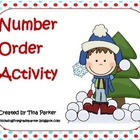 Winter Number Order Activities