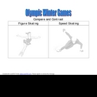 Winter Olympic Compare and Contrast Graphic Organizer