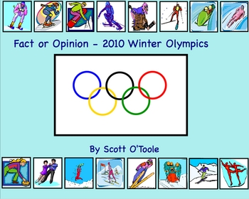 Winter Olympics 2010 Vancouver Fact and Opinion Smartboard Lesson