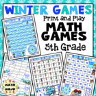 Winter Olympics Math Games and Centers - 5th Grade