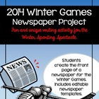 Winter Olympics Newspaper Project