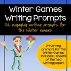 Winter Olympics / Winter Games Writing Prompts