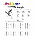 Winter Olympics Word Search Puzzle