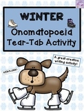 Winter Onomatopoeia Tear-Tab Creative Writing Activity