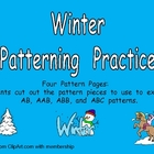Winter Patterns Independent Practice for Kindergarten