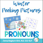 Winter Peeking Pictures: Pronouns