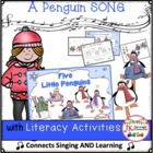 Winter Penguin Song: 5 Little Penguins - Shared Reading Si