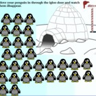 Winter Penguin Themed Attendance For SmartBoard