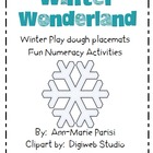 Winter Play dough numeracy