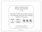 Winter Pocket Chart Number Word Match  1-20