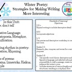 Winter Poetry Unit