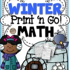 Winter Print 'N Go! 2nd Grade Math Common Core Aligned