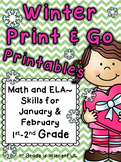 Winter Printables~ Print and Go for January & February  1s