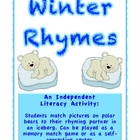 Winter Rhymes Matching Game - Literacy Activity