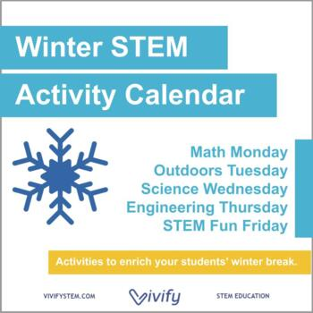 Winter STEM Activity Challenge Calendar: Fun with Math, Science, and Engineering