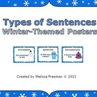 Types of Sentences Posters (Winter Theme)