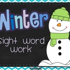 Winter Sight Word Word Work