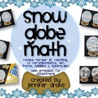 Winter Snow Globe Math Center ~6 Ways To Use~ #s, Counting
