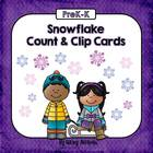 Snowflake Count and Clip Cards 1-10