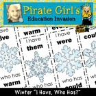 Winter Snowflake Dolch Sight Word Game (1st grade)